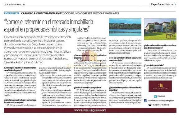 Entrevista en el diario La Razón